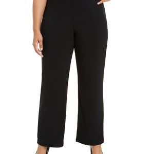 Alfani Petite Knit Wide-Leg Pant Pure Cinder Sz XL